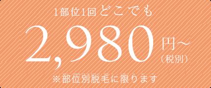 2980円~
